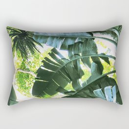 Tropical life palm leaves banana palm Rectangular Pillow