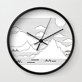 Mountains and Lines Wall Clock