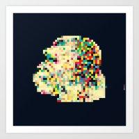 8bit Art Prints featuring Ape 8bit by jnk2007