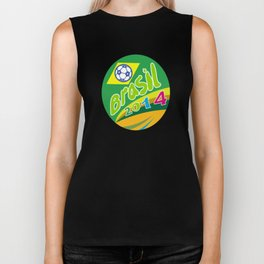 Brasil 2014 Soccer Football Ball Oval Biker Tank