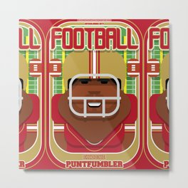 American Football Red and Gold - Enzone Puntfumbler - Hayes version Metal Print
