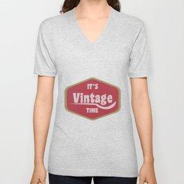 It's Vintage Retro Time Oldschool Gift Unisex V-Neck