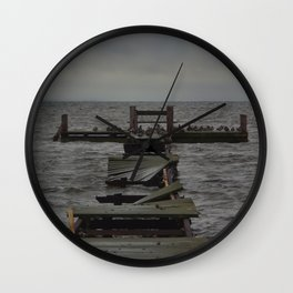 Jetty of Birds  Wall Clock