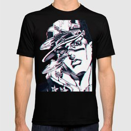 Jotaro Kujo from Jojo's bizarre adventure affected by Whitesnake T-shirt