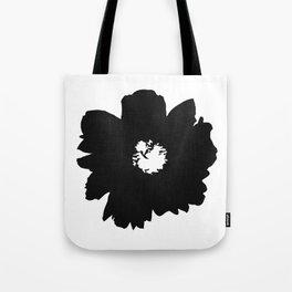 Black Peony Tote Bag