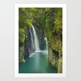 The Takachiho Gorge on the island of Kyushu, Japan Art Print