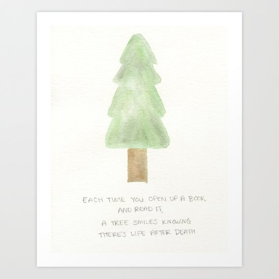a tree's life after death Art Print