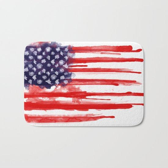 American Spatter Flag Bath Mat