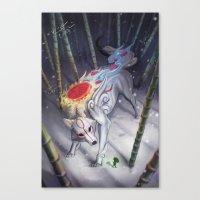okami Canvas Prints featuring Okami by Caroline Roy