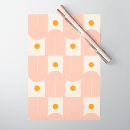 Abstraction_SUN_DOUBLE_LINE_POP_ART_Minimalism_001C Wrapping Paper