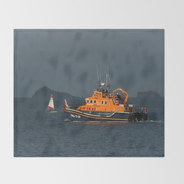 RNLI Lifeboat Torbay Throw Blanket
