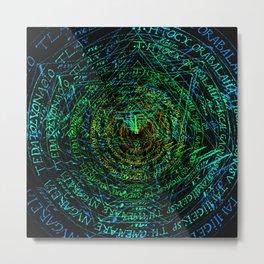 rainbow pentagrams Metal Print