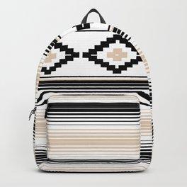 Modern Mexican Serape in Tan Backpack