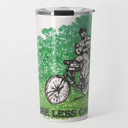 One Less Car Travel Mug