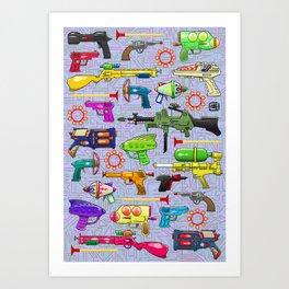 Vintage Toy Guns Art Print
