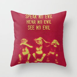 No Evil 2 Throw Pillow