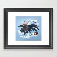 Dragon Riders ver 2 Framed Art Print