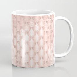 Pretty Pink Faux Foil Mermaid Scallops Coffee Mug