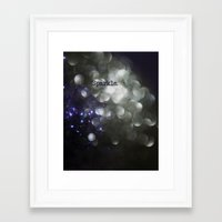 sparkle Framed Art Prints featuring sparkle by Bonnie Jakobsen-Martin
