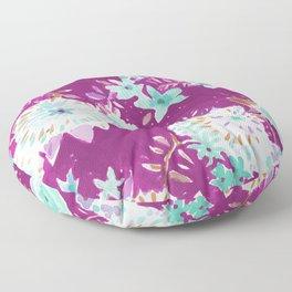 Plum Flourish Floral Floor Pillow
