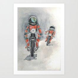 'Nauts on Bikes Art Print