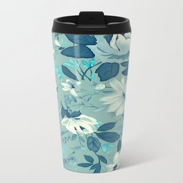 Floral pattern vintage Metal Travel Mug