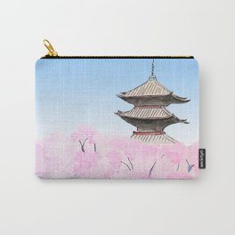 Temple and sakura Carry-All Pouch