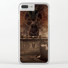 The Lord of Death Clear iPhone Case