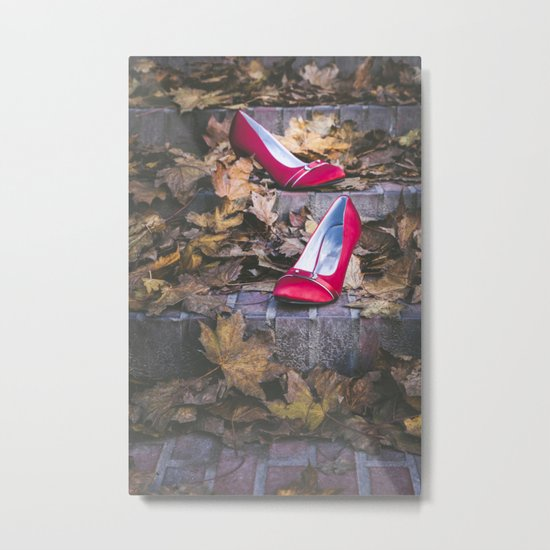 Red Shoes Metal Print