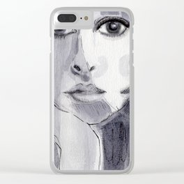 Double exposure Clear iPhone Case