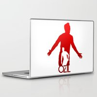 arsenal Laptop & iPad Skins featuring Mesut Ozil by Sport_Designs
