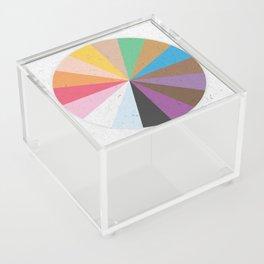 Rainbow Wheel of Inclusivity Acrylic Box
