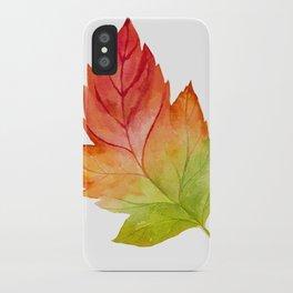 Watercolor Leaf Sticker 3 iPhone Case