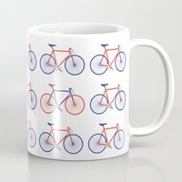 bikes Mugs featuring Bikes  by Keep It Simple