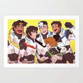 Team Voltron Art Print