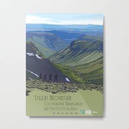 Vintage Poster - Steens Mountain Protection Area, Oregon (2015) Metal Print