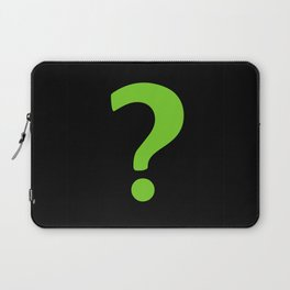 Enigma - green question mark Laptop Sleeve