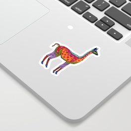 Psychedelic Vicuna Sticker