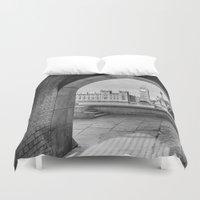 politics Duvet Covers featuring Big ben and bridge by Solar Designs