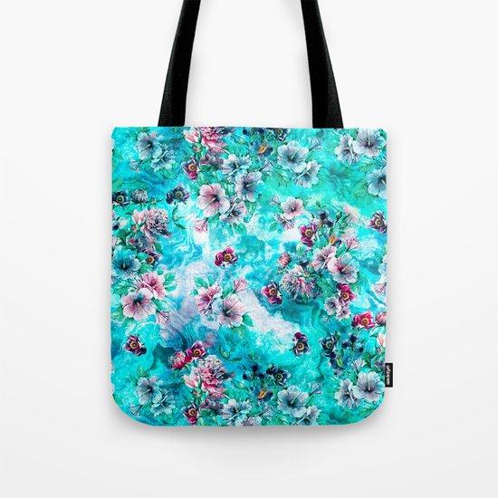 Floral Ocean II Tote Bag