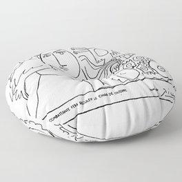 Pablo Picasso, La Paix Combattante Fera Reculer Le Char de Guerre, Artwork, Prints, Posters, Tshirts Floor Pillow