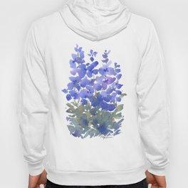 Beautiful Blue Delphiniums Hoody