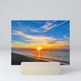 Sunset at Sheringham Beach, U.K Mini Art Print