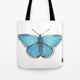 Beautiful Blue Endangered Butterfly Tote Bag