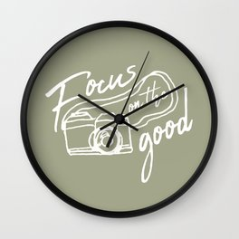 Focus on the Good Photography Wall Clock