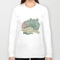 boyfriend Long Sleeve T-shirts featuring Monster Boyfriend by Hannah Loewe - Lion & Goldfish