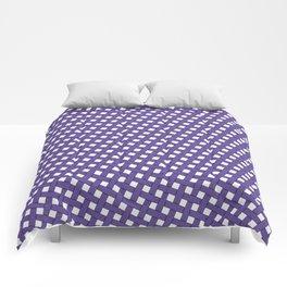 Ultraviolet Grid Comforters