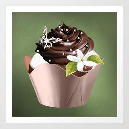 Holiday Cupcakes Art Print