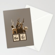 Funny chemistry bear discovered beer Stationery Cards