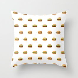Hamburger Lover Throw Pillow